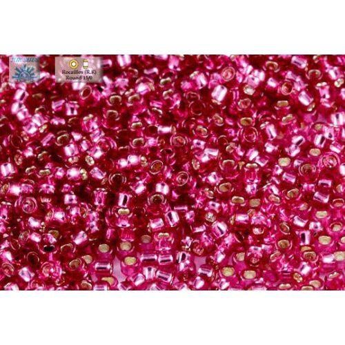 Japán kásagyöngy TOHO 15/0, ezüstközepű pink, 5g