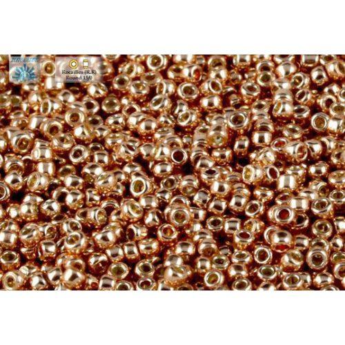 Japán kásagyöngy TOHO 15/0, tartós bevonat, galvanizált rose gold, 5g