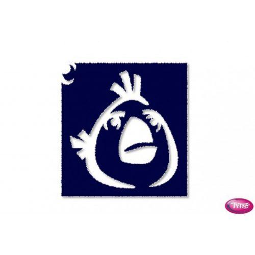 Tytoo testfestő minta sablon 5x5cm AB-03 Angry Birds madár