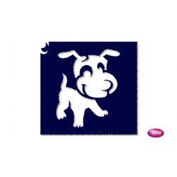 Tytoo testfestő minta sablon 6x6 AL-09 Kutya