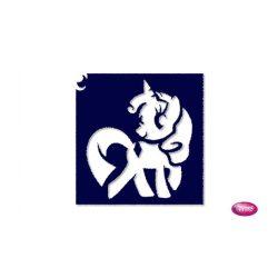 Tytoo testfestő minta sablon 6x6 AL-112 Csillámpóni, My little pony