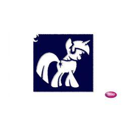 Tytoo testfestő minta sablon 6x6 AL-114 Csillámpóni, My little pony