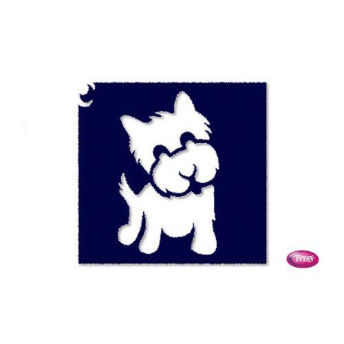 Tytoo testfestő minta sablon 6x6 AL-13 Kutya