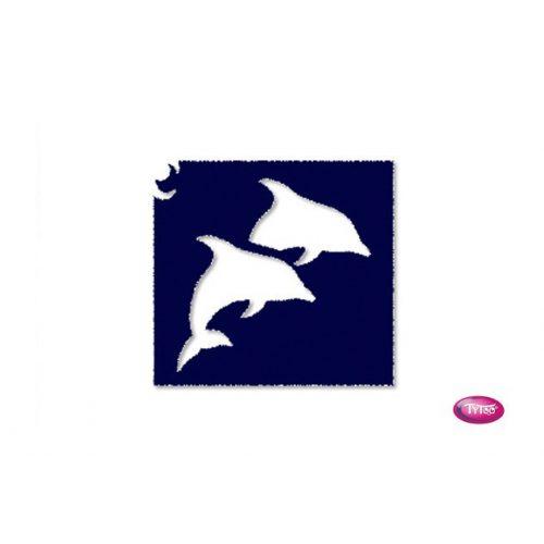 Tytoo testfestő minta sablon 5x5 HA-01 Delfin