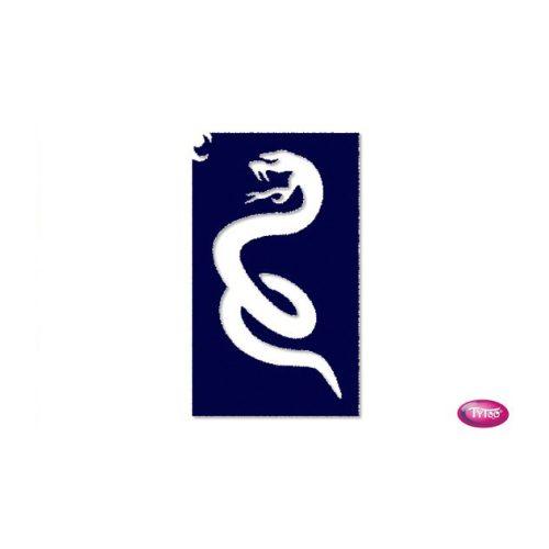Tytoo testfestő minta sablon 5x8cm HU-12 Kígyó