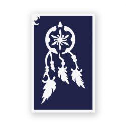 Tytoo testfestő minta sablon 6x10cm tA-014 Álomfogó