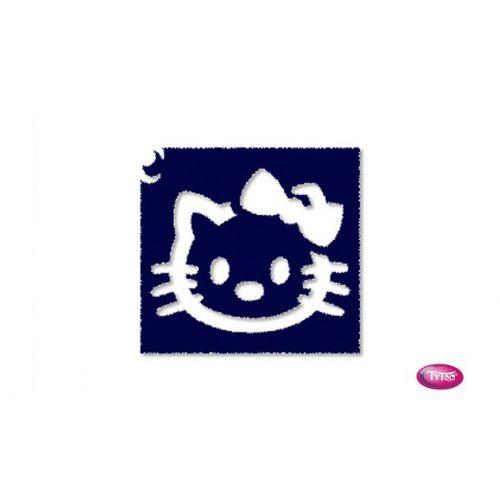 Tytoo testfestő minta sablon 5x5cm tA-301 Hello Kitty