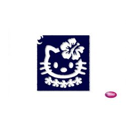 Tytoo testfestő minta sablon 5x5cm tA-316 Hello Kitty Hawaii virág