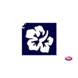Tytoo testfestő minta sablon 5x5cm VI-07 Virág