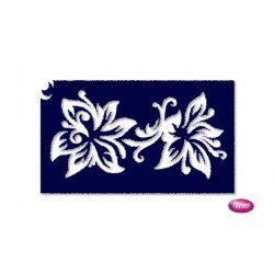 Tytoo testfestő minta sablon 5x8cm VI-10 Liliom virág