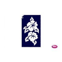 Tytoo testfestő minta sablon 5x8cm VI-15 Hibiszkusz virág