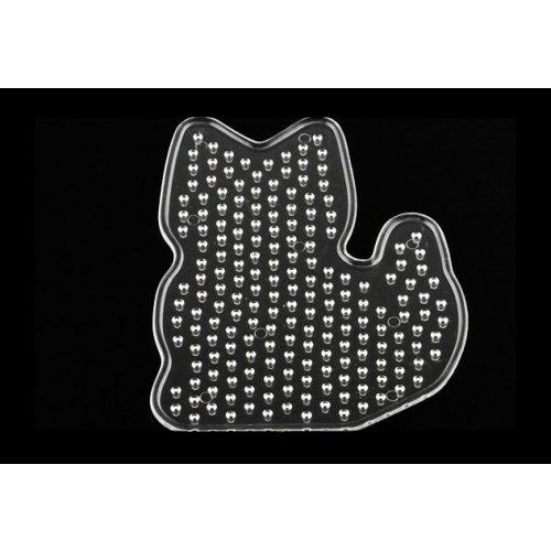 Alaplap vasalható gyöngyhöz, cica